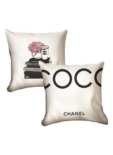 Lyn Home & Decor Coco Chanel İkili Yastık Kılıfı 42X42 Renkli